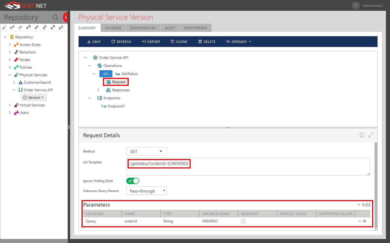 Registering REST APIs | Sentinet