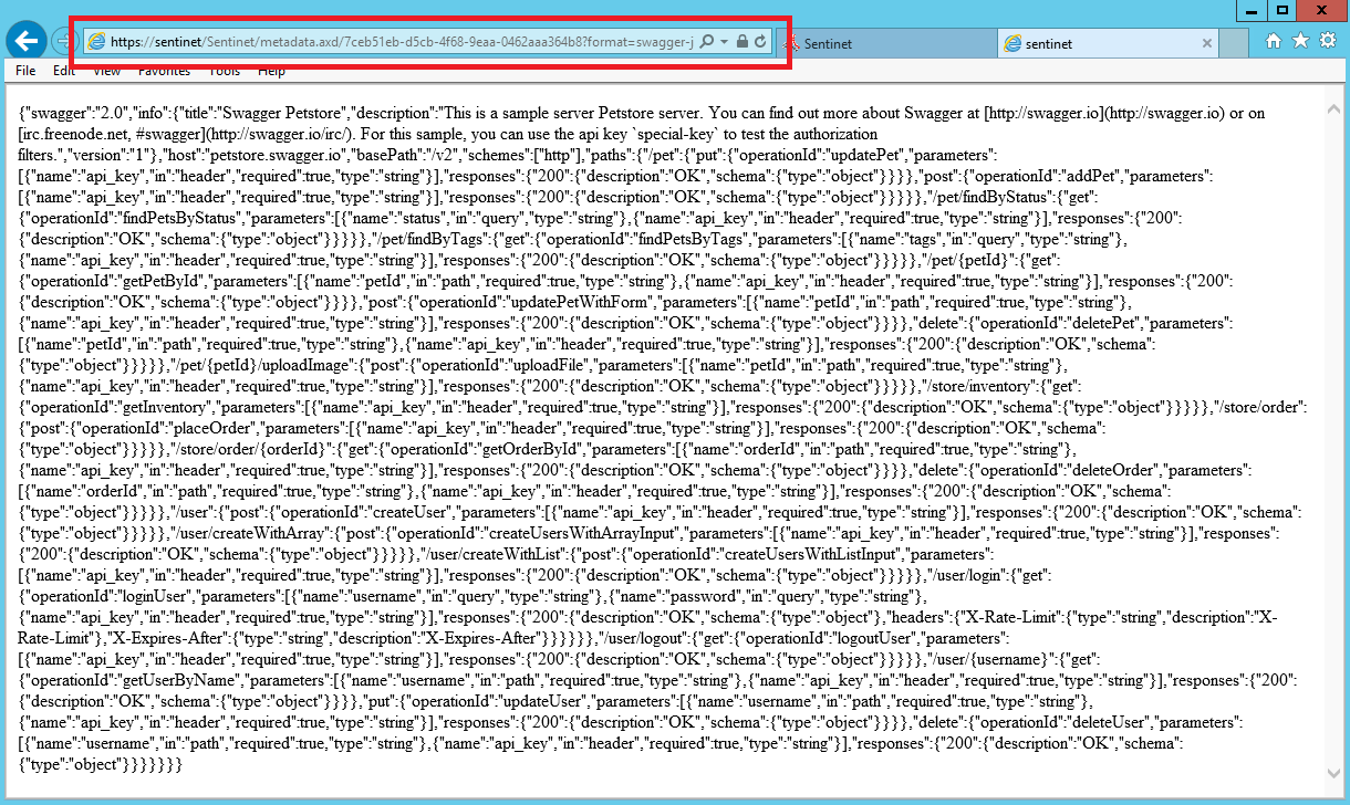 Service Version Metadata | Sentinet